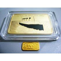 Moedas Comemorativa Titanic 1 Onça Banho Ouro 24k Import