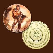 9444a - Mitologia Nórdica - Banhada A Ouro 24 K - 40 Mm