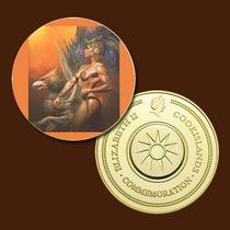 9910a - Mitologia Nórdica - Banhada A Ouro 24 K - 40 Mm