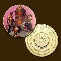 9891b - Mitologia Nórdica - Banhada A Ouro 24 K - 40 Mm