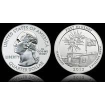 Moeda Estados Unidos Quarter Dolar 2013 Fort Mchenry Fc