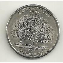 25 Cents/quarter Dolar - Eua - Connecticut - Letra P