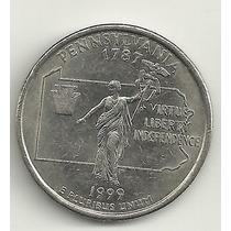 25 Cents/quarter Dolar - Eua - Pennsylvania - Letra P