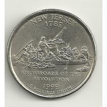25 Cents/quarter Dolar - Eua - New Jersey - Letra P