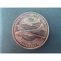 2701 - Moeda Medalha U.s.a. Força Aerea Americana B-29