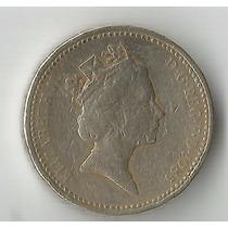 Moeda Inglaterra 1 Pound 1985 22 Mm