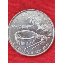 Moeda Usa Quarter Dollar Estados Território D American Samoa