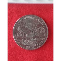 Moeda Usa Quarter Dollar Parques Great Smoky Mountains Let P