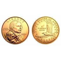 Moeda Estados Unidos 2001 1 Dolar American Sacagawea