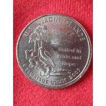 Moeda Usa Quarter Dollar Território Americano Virgin Island