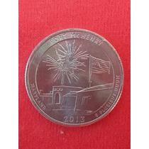 Moeda Usa Quarter Dollar Parque Americano Fort Mchenry 2013p
