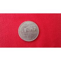 Moeda Usa Quarter Dollar Estados Americanos Indiana Letra P