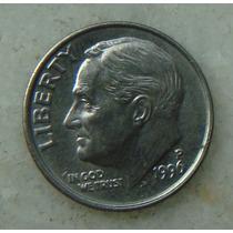 2162 - Usa One Dime Liberty 1996, Letra D - Tocha 18mm