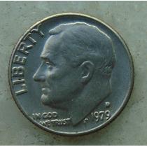 668 - Usa One Dime Liberty 1979, Letra D - Tocha 18mm
