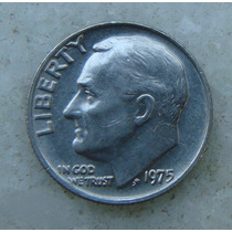 703 - Usa One Dime Liberty 1975, Sem Letra - Tocha 18mm