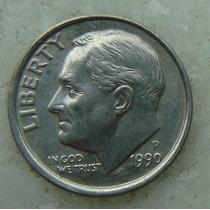 521 - Usa One Dime Liberty 1990 Letra P - Tocha 18mm
