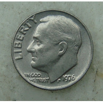 800 - Usa One Dime Liberty 1976, Sem Letra - Tocha 18mm