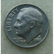 478 - Usa One Dime Liberty 1988, Letra P - Tocha 18mm