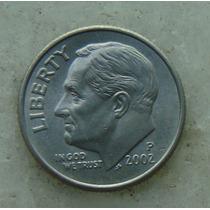 473 - Usa One Dime Liberty 2002, Letra P - Tocha 18mm