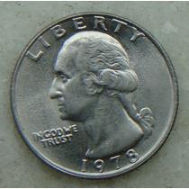 380 Eua - Quarter Dollar 1978 Sem Letra - Serrilha 24mm