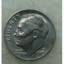 838 - Usa One Dime Liberty 1983, Letra P - Tocha 18mm