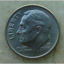 674 - Usa One Dime Liberty 2000, Letra D - Tocha 18mm