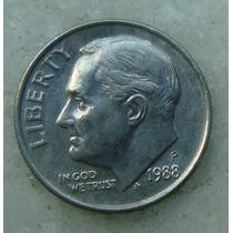 779 - Usa One Dime Liberty 1988, Letra P - Tocha 18mm