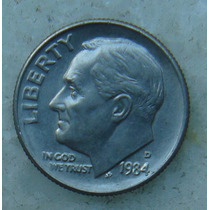 566 - Usa One Dime Liberty 1984, Letra D - Tocha 18mm