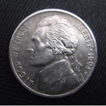 Moeda Coin Usa Five Cents 1994 (mbc) - Frete Grátis