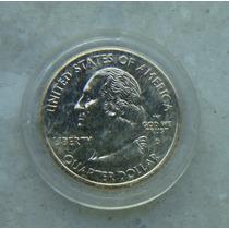 Eua - Quarter Dollar 2001, Trincado - Fc - Dourado Vermont