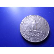 Moeda Quarter Dollar Usa 1984 Letra P Frete Custa 7 Reais