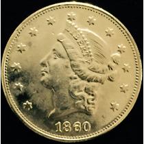 Moedas De 20 Dólares De 1860.