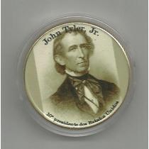 15057 - 10º Pres. Usa - Banhado Ouro 40 Mm