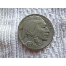 Raríssima Moeda De 5 Cents Em Prata Americana.
