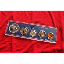 Conjunto Moedas Americanas 1966 Com Half Dollar Prata