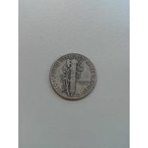 Moeda De Prata One Dimer Dollar 1941- 2 Gramas