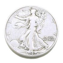 Moeda Em Prata Half Dollar 1942 Estados Unidos 0443