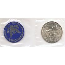 Usa, Moeda De 1 Dolar, 1972s, Prata, Fc - Embalagem Lacrada