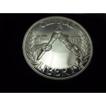 26,7 G Prata 900 Proof Moeda One Dollar Usa 1988 Jogos Seoul