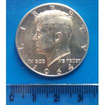 Moeda Meio Dollar - Kennedy - 1964 - Prata 900 (half Dollar)