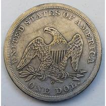 Moeda Estados Unidos 1 Dolar De Prata 1859 - Frete Grátis