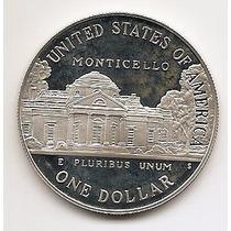 Usa, Moeda De 1 Dolar, 1993, Prata, Proof, Fc - T. Jefferson