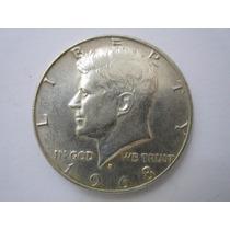 Usa Moeda Prata Half Dollar 1968