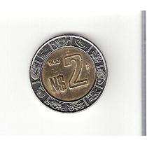 Linda Moeda Do México De 2 Pesos De 1992 - Vejam A Foto !