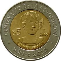 México - 5 Pesos 2009 (bimetálica) Serdan