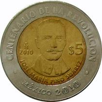 México - 5 Pesos 2010 (pino Suarez)