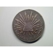 Moeda Mexico 8 Reales Guadalajara 1832/1 -fs- Prata