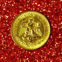Moeda De 2 Pesos De Ouro Maciço Do México 0,900 Ano 1945 22k
