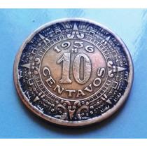 Bela Moeda Do México - 1936 - 10 Centavos