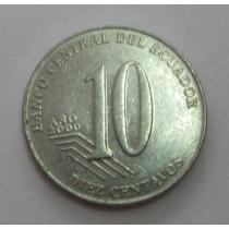 Equador: Bela Moeda 10 Centavos 2000 S/fc